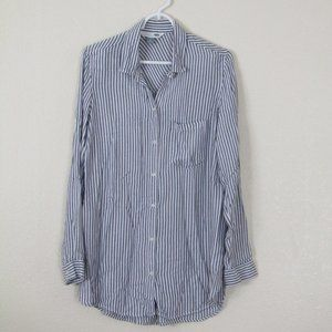 Old Navy Striped Classic Button Down Shirt, L
